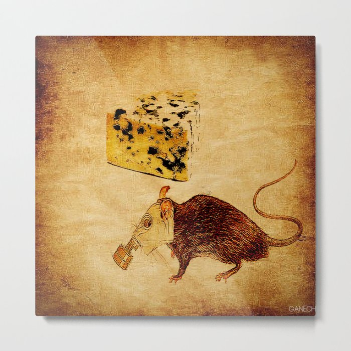 The rat which did not like the cheese Metal Print
