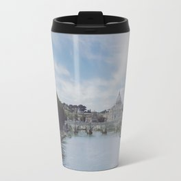 St. Peter's Basilica in the Vatican - Seen Across the Tiber in Rome, Italy Travel Mug