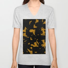 Looking For Gold - Abstract gold and black painting Unisex V-Neck
