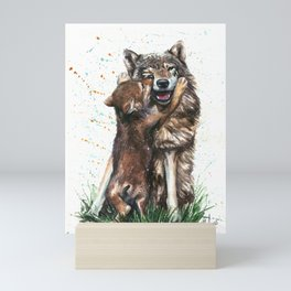 Wolf - Father and Son Mini Art Print
