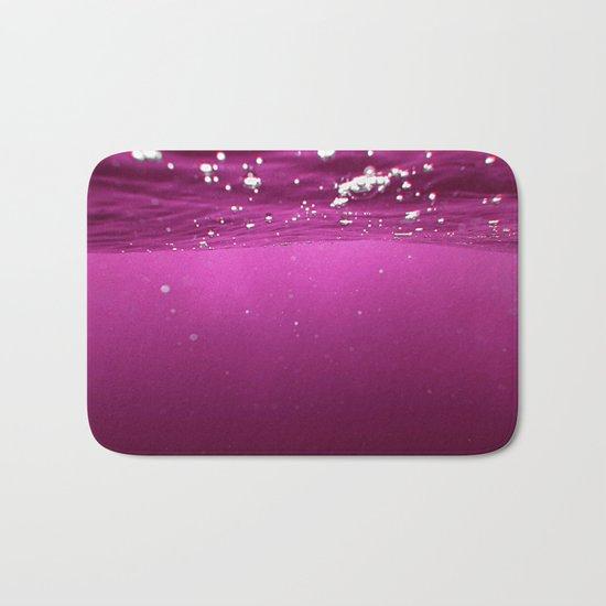 Pink Velvet Ocean Bath Mat