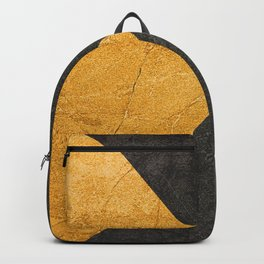 Yellow and Grey - Triangle Backpack