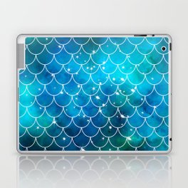 Mermaid Galaxy Scallop Pattern Laptop & iPad Skin