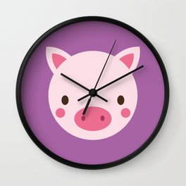 Polly the Pig Wall Clock