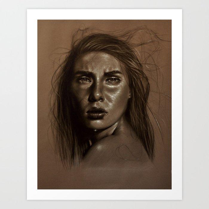 Behind the mask Art Print