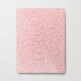 Spacey Melange - White and Coral Pink Metal Print
