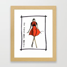 Red and Black at Lucky FABB Framed Art Print