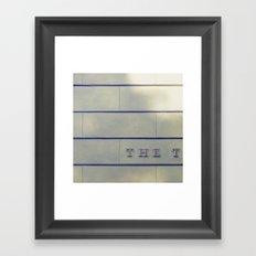 THE Framed Art Print