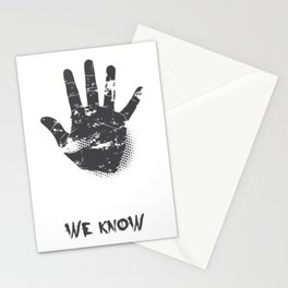 We Know Grungy Palm Stationery Cards