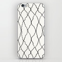 Moroccan Diamond Weave in Black and White iPhone Skin