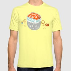 i are convenience LARGE Mens Fitted Tee Lemon