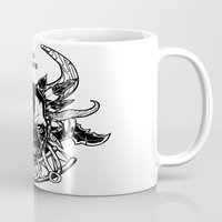 diablo Mugs featuring Diablo III. Witch Doctor by OneAppleInBox