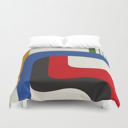 TAKE ME OUT (abstract geometric) Duvet Cover