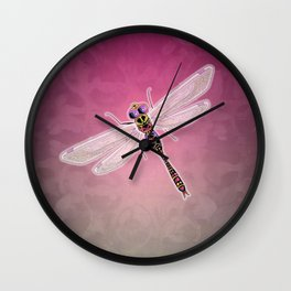 Dragonfly (Pink) Wall Clock