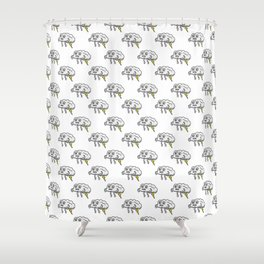 Lightning Farting Cloud Shower Curtain