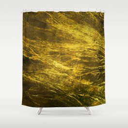 Classic Vintage Gold Faux Marble With Gold Veins Shower Curtain