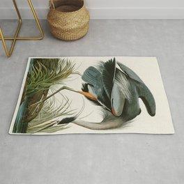Great blue Heron - John James Audubon's Birds of America Print Rug