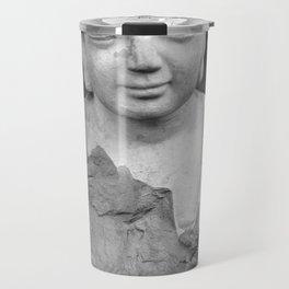 Buddha back and white Travel Mug