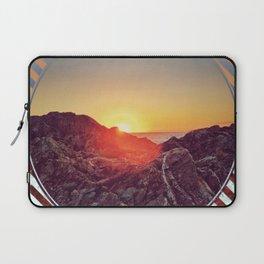 Peel Sunset -  brown graphic Laptop Sleeve