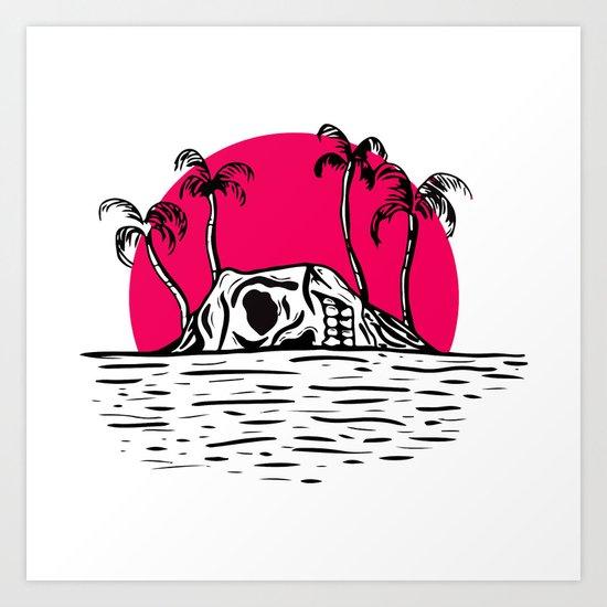 Skull Island Art Print