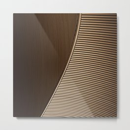 brown lines Metal Print