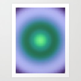Ripple IV Pixelated Art Print