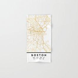 BOSTON MASSACHUSETTS CITY STREET MAP ART Hand & Bath Towel
