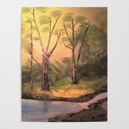 Sunny Forest Poster