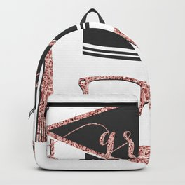 Grad modern typography & academic cap Backpack