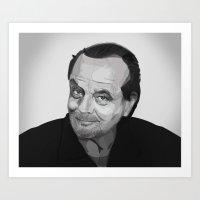 jack nicholson Art Prints featuring Jack Nicholson by leighgf