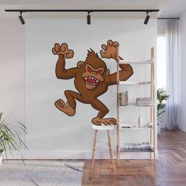 Angry Monkey Cartoon. Wall Mural