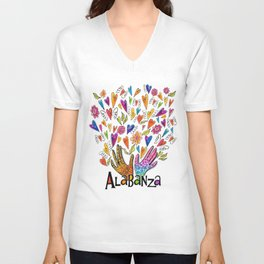 Alabanza Unisex V-Neck