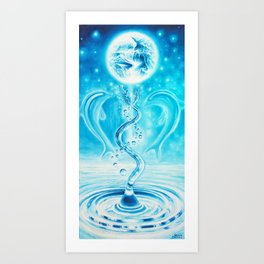 Water - the source of life Art Print