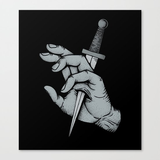 Stabbed Canvas Print