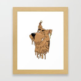 Melting Scooby Framed Art Print
