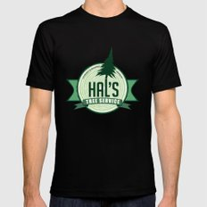 Hal's Tree Service MEDIUM Black Mens Fitted Tee