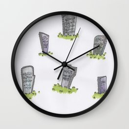 gravestones Wall Clock