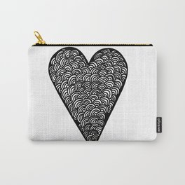 Geometric Heart Z Carry-All Pouch