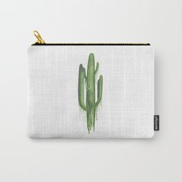 Drippy Green Saguaro Carry-All Pouch