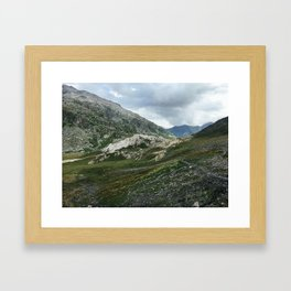 Mountains of Switzerland - Greina High Plain Granite Formation Framed Art Print