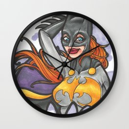Batgirl Logo Wall Clock