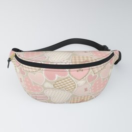 Patchwork Hearts Pattern Fanny Pack