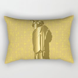 Gold Statue of Liberty on the Gold-leaf Screen Rectangular Pillow
