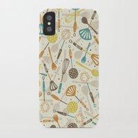 kitchen iPhone & iPod Cases featuring Kitchen Utensils by Anna Deegan