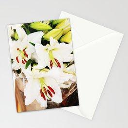 White lilium Stationery Cards