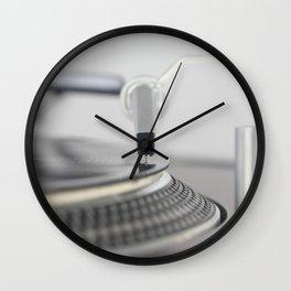 Closeup of the legendary technics sl 1200 mk2 turntable Wall Clock