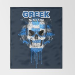 To The Core Collection: Greece Throw Blanket