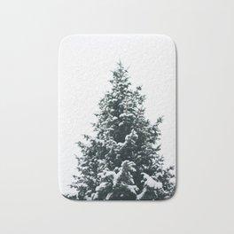 Snowy Pine Bath Mat