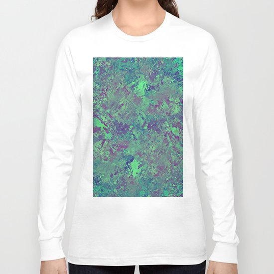 Cool And Calm - Abstract blue and purple painting, icy, chilled out, calming, relaxing artwork Long Sleeve T-shirt