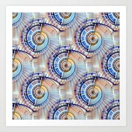 Spiral Staircase Pattern Art Print
